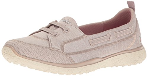 Enfiler topnotch Skechers Baskets Microburst Taupe Femme qagw41