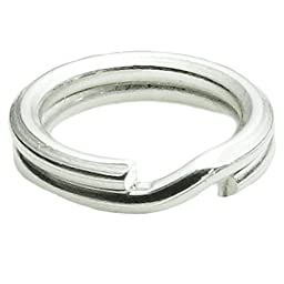 20 pcs .925 Sterling Silver Round 6mm Split Jump Rings 22ga Gauge / 0.6mm Wire for Charm Connector / Findings / Bright