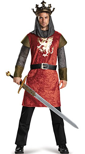 King Arthur Halloween Costume (Disguise Men's King Classic Adult Costume, Multi, XX-Large)