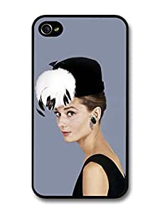 AMAF ? Accessories Audrey Hepburn Wearing Black Hat With Feathers case for iPhone 5c