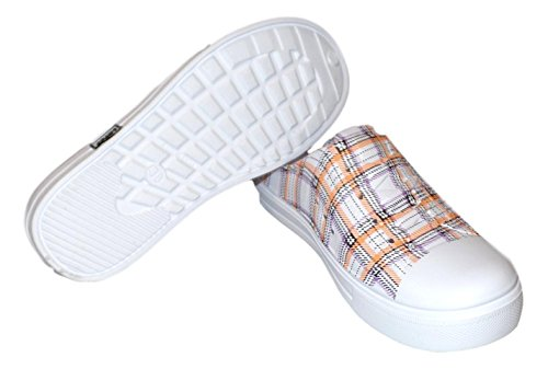 101 Beach Dames Print Water Sneaker Klompen Oranje Plaid