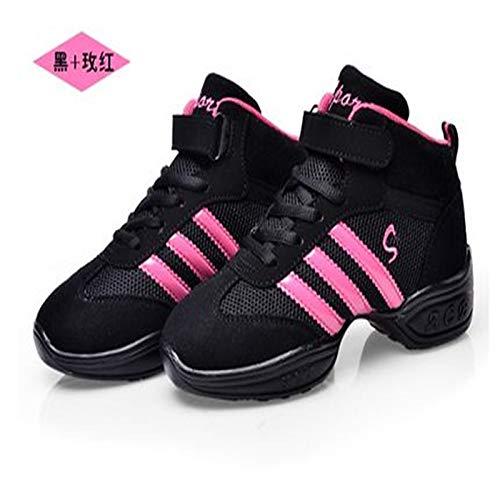 Zapatos Primavera Flocado de Sneakers Gris otoño Black Rojo ZHZNVX Mujer Oro Red Negro Negro Comfort SwdHCnqx