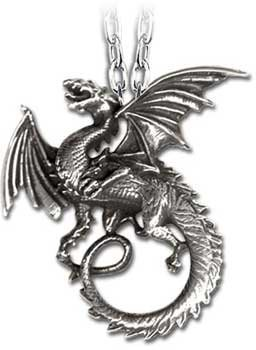 Alchemy Gothic Pewter The Whitby Wyrm Pendant Necklace by Alchemy Gothic