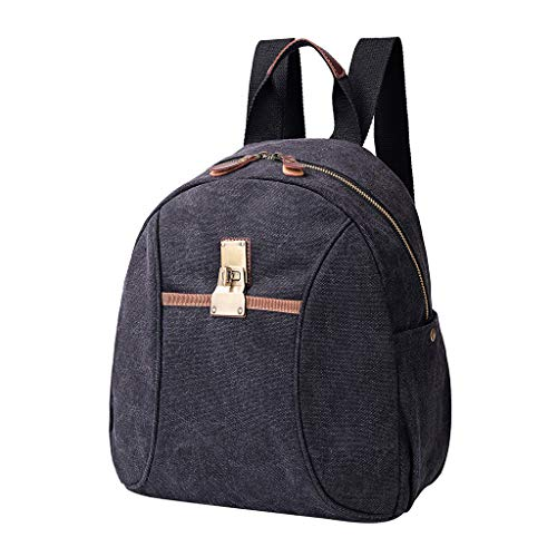 - Treaxer Men'S And Women'S Fashion Casual Vintage Canvas Large-Capacity Shoulder Backpack Computer Bag
