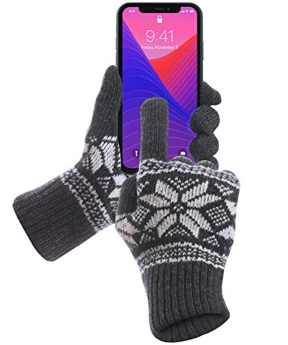 GreatShield COZY Series Spring Fall Winter Gloves that Works with Touch Screen Devices - iPhones, Android Phones, Smartphones, Tablets for Men & Women - 5 Finger Functionality (Small/Medium)