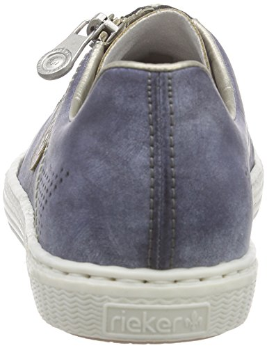 Rieker L0946 Women Low-Top Damen Sneaker Blau (steel/jeans / 43)