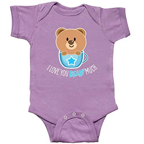 inktastic I Love You Beary Much- Cute Bear in Infant Creeper Newborn Lavender