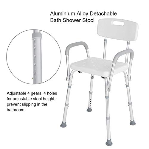 Shower Seat, Manufactured with High Polyethylene Material Adjustable Anti-Slip Detachable Bath Shower Stool for Pregnant Elderly Disabled Care by ZJchao (Image #1)