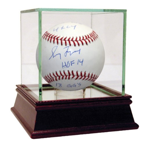 Inscribed Gold Glove (Steiner Sports MLB Atlanta Braves Greg Maddux Signed Baseball with HOF 2014 355 Wins 4x Cy Young 8x All Star 18x Gold Glove Inscribed (LE of 31))