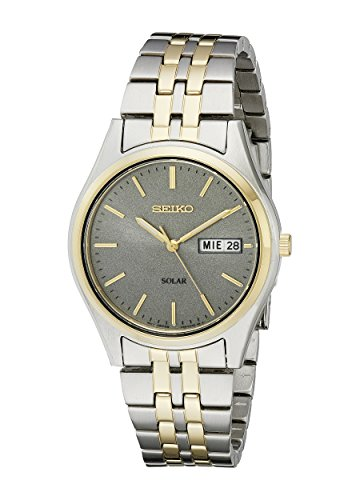 (Seiko Men's SNE042 Stainless Steel Solar Watch)