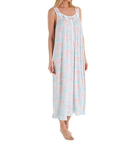 Eileen West Italian Garden Modal Ballet Nightgown (5219976) M/White Italian Garden