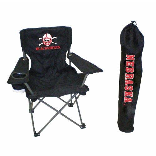 Rivalry NCAA College Team Logo Design Nebraska Junior Tailgate Chair - Blackshirts