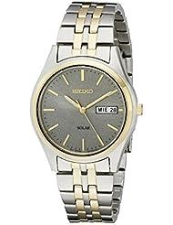 Seiko Mens SNE042 Stainless Steel Solar Watch