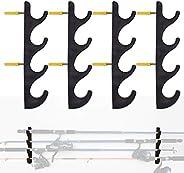 YYST Horizontal Fishing Rod Storage Rack Holder Wall Mount W Screws - No Fishing Rod- to Hold 8 Fishing Rods