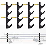 YYST Horizontal Fishing Rod Storage Rack Holder Wall Mount to Hold 8 Fishing Rods W Screws - No Fishing Rod