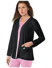 Koi Mariposa Women's Lisa Button Front Solid Scrub Jacket