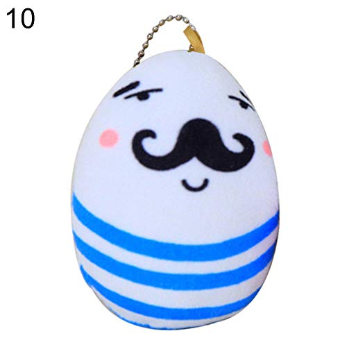 yanQxIzbiu Plush Toy for Girls Kids, Lovely Colored Easter Egg Pendant Plush Toy Children Gift Party Home Decoration - 10#