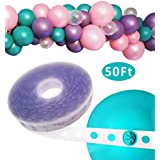 Balloon Decorating Strip Tape 50Ft Long to Make Arch Garland Steamer for Birthday Wedding Baby Shower