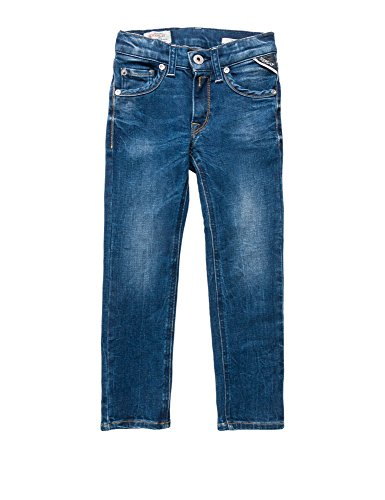 Replay Redcast Power Stretch Denim Boy's Pants In Size 10 Years Blue by Replay