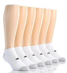Champion Mens No Show Socks (CH608P) -WHITE -12-14
