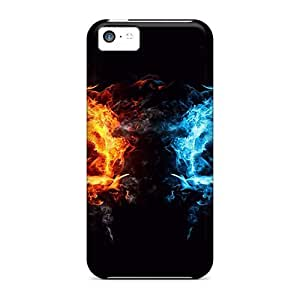 Premium PqQla2950aqKuJ Case With Scratch-resistant/ Elemental Fists Case Cover For Iphone 5c