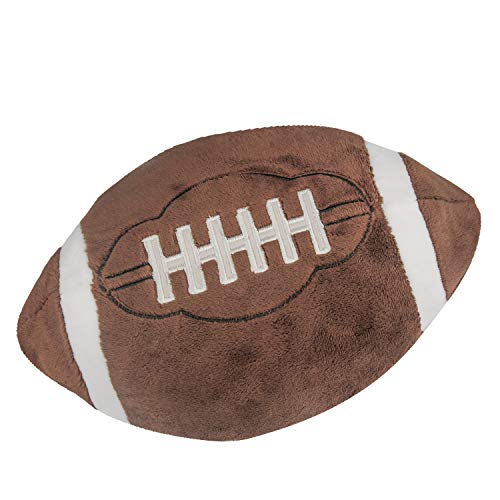 CatchStar Football Plush Pillow Fluffy Stuffed Football Sports Ball Throw Pillow Soft Durable Sports Toy Gift for Kids Room -