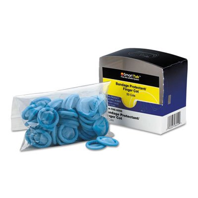 Smart Compliance Refill Finger Cots, Blue, Nitrile, 50/Box by First Aid Only (Image #1)