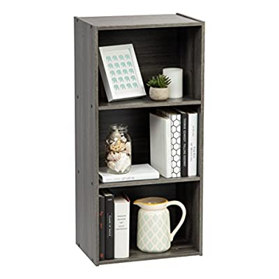 IRIS 3-Tier Corner Curved Shelf Organizer, Light Brown