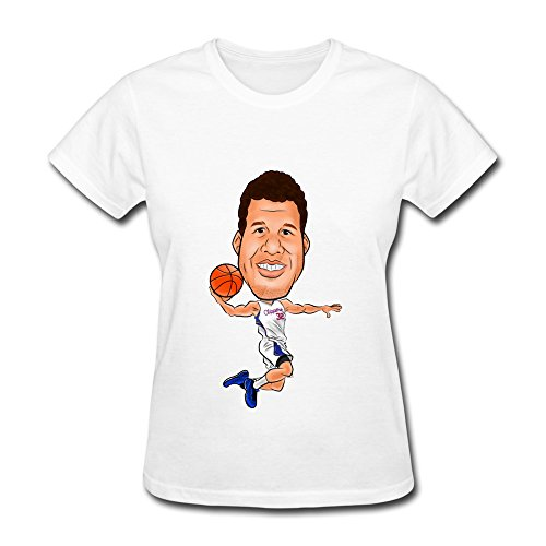 - NKNL Women Blake Griffin Los Angeles Clippers White T-shirts