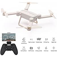 X8TW Foldable RC Quadcopter, Wifi FPV Camera Altitude Hold,Headless Mode Selfie Pocket Drone - White
