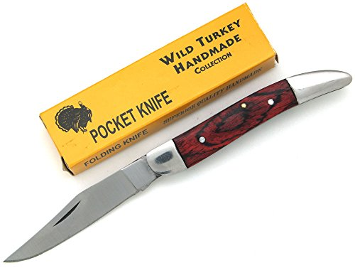 Wild Turkey Handmade Frost Wood Tooth-PickFolding Knife 3.5′ Closed Everyday Carry Collectors Item Survival (BFW) Review