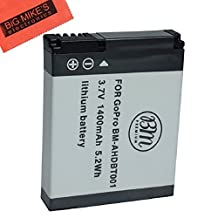 AHDBT-001, AHDBT-002 Replacement Battery FOR GoPro HD HERO, HERO2 Camera