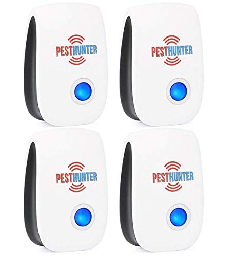 Insect Control Pest Natural (Ultrasonic Pest Repeller Plug In - 4 Eco Pack Repellent - Best Pest Defender Electronic Control Reject - Indoor Repel Mouse Bed Bugs Mosquitoes Spiders Roaches Insect Ants Rats Cockroaches)