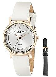 Stuhrling Original Women's 734LS2.SET.01 Ascot Castorra Elite Swiss Quartz Diamond Studded Dress Watch