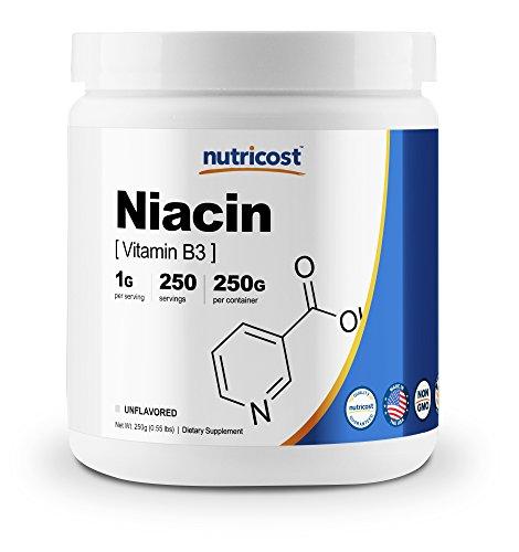 Nutricost Niacin Vitamin B3 Powder 250 Grams - 1G Per Serving - Pure, High Quality Vitamin B3 Powder