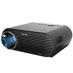 Proyector, TENKER Proyector LED 3200 lúmenes Resolución 1280x800 con Cable HDMI, Multimedia Portátil Proyector Vídeo de Apoyo 1080P HDMI USB VGA AV ...