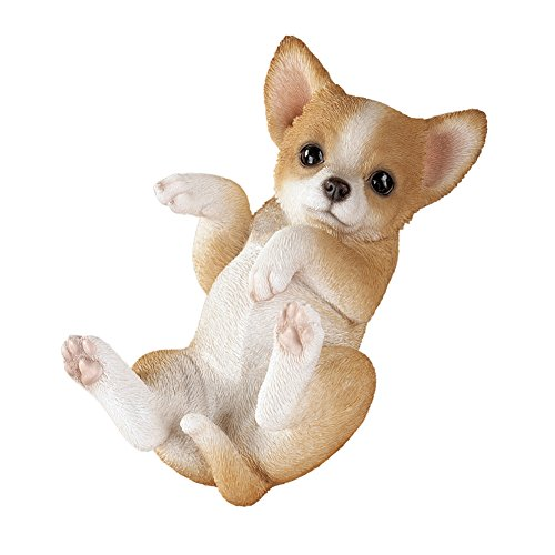 Playful Cute Puppy Dog Breeds Sculpture Figurine, Chihuahua (Garden Dog Puppy Sculpture)
