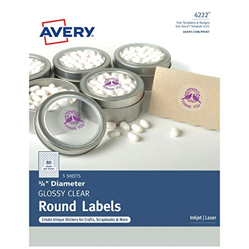 Avery Round Labels for Laser & Inkjet Printers, 3/4