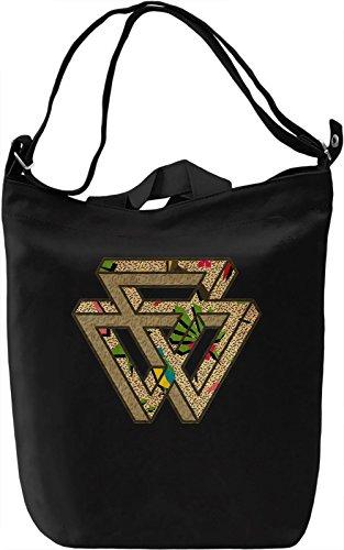 90's Triangles Borsa Giornaliera Canvas Canvas Day Bag  100% Premium Cotton Canvas  DTG Printing 