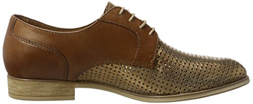 393 23209 bronce Femme nut Tamaris Oxfords Marron 6qUBU