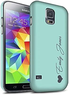 Personalizado Tonos Pastel Personalizar Funda Mate para el Samsung Galaxy S5 Neo/G903 / Corazón Turquesa Diseño/Inicial/Nombre/Texto Carcasa/Estuche/Case Snap: Amazon.es: Electrónica