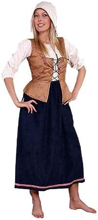 Disfraz de sirvienta de la Edad media para mujer talla L granjera de ...