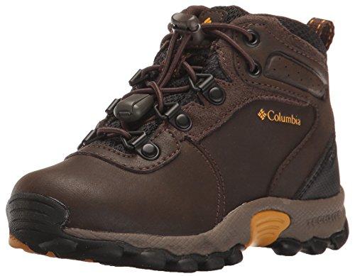 Image of Columbia Unisex Childrens Newton Ridge Hiking Shoe, Cordovan, Golden Yellow, 9 Regular US Little Kid