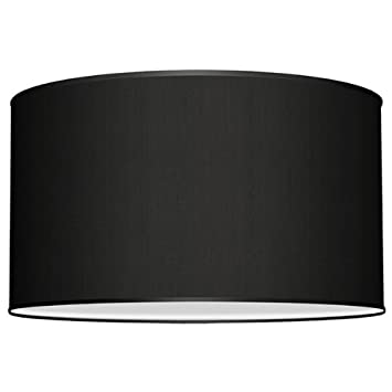 Seascape lamps deep drum lamp shade linen black