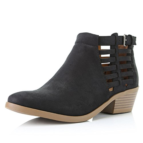 DailyShoes Womens Western CowBoy Bootie - Ultra Comfortable and Soft Perforated Princess-01