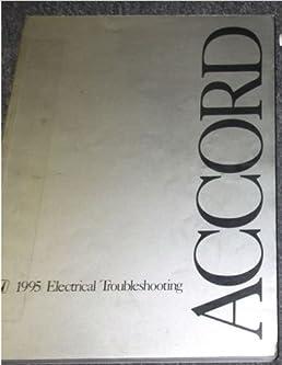 1995 Honda Accord Wiring Diagram: 1995 HONDA ACCORD Electrical Wiring Diagram Troubleshooting Manual rh:amazon.com,Design