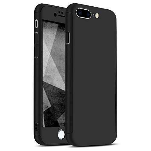 iPhone 7 Plus Case, Ultra-thin Hard Hybrid PC 360 All Round Body Coverage Protective Case Skin Cover with Tempered Glass Screen Protector for iPhone 7 Plus 5.5