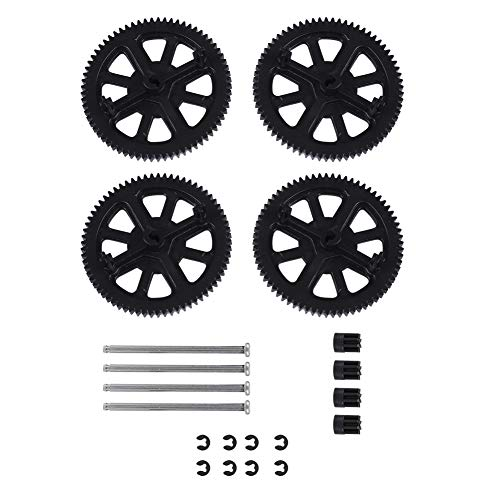 Alomejor RC Quadcopter Spare Parts Motor Pinion Gear + Shaft Set for Parrot Drone 1.0 2.0 Quadcopter Helicopter Drone Main Gears Motor Small Gears