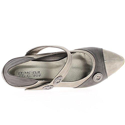 Negro zapatos cómodos con tacones 5,5 cm puntas puntas con brida