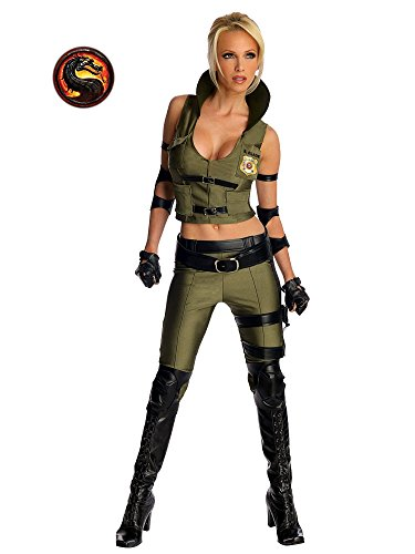 Secret Wishes Mortal Kombat Sonya Blade, Multicolor, -